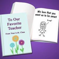 Personalized Teacher Appreciation Book - Hard Cove