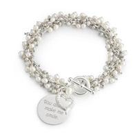 Personalized Pearl Flutter Bracelet Gift