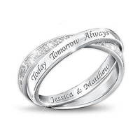 Sterling Silver Diamond Infinity Ring: Today, Tomo