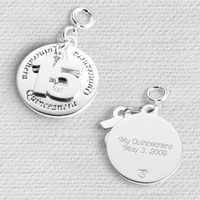 Personalized Number 15 Charm Gift