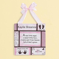 Personalized Baby Information Art Canvas