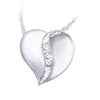 My Dear Granddaughter Diamond Heart Pendant Neckla