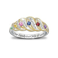 Our Family Is A Circle Of Love: Sterling Silver Pe