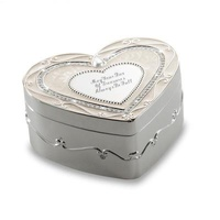 Personalized Regal Elegance Heart Jewelry Box With