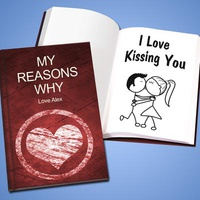 Personalized 'I Love You' Book - Hard Cover