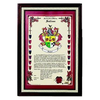Personalized Family History Print With Crest