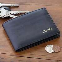Personalized Gifts - Regent Collection Leather Bi-Fold Wallet