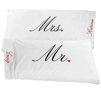 Personalized Mr. & Mrs. Pillowcases