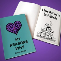 Custom 'Why I Love You' Book - Soft Cove