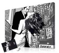 Personalized Gifts For Couples - Exclusive Black And White Comic Portraits