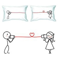 &quot;Say I Love You&quot; Couple Pillowcase Set
