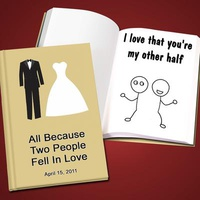 Personalized Wedding LoveBook - Hard Cover