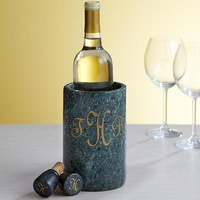 Personalized Marble Wine Chillers And Stoppers