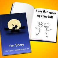Personalized 'Apology' LoveBook - Hard C