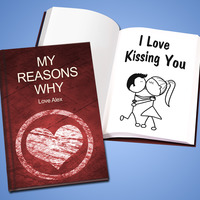 personalized reasons why I love you book gift for new boyfriend