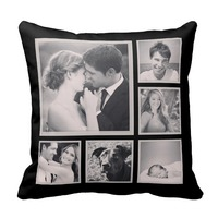 Custom Instagram Photo Collage Pillow