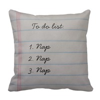 to do list funny throw pillow for teen girls