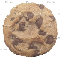Chocolate Chip Cookie Novelty Round Pillow