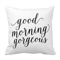 good morning gorgeous throw pillow gift for teen girl