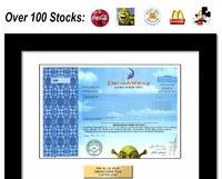 framed share of stock
