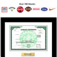 stock certificate gift