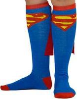 Superman Caped Knee High Socks