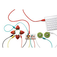 DIY synthesizer made with fruit creative gift for tween