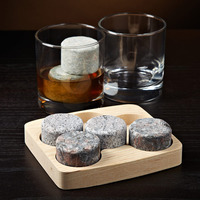 Round Whiskey Stones 6 Piece Set W/ FREE..