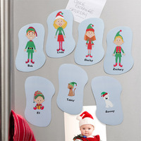 personalized elf family magnets