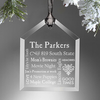 Personalized Christmas Ornaments - Family Home