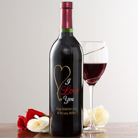 personalized wine bottle first valentine's day gift idea
