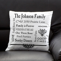 Personalized Keepsake Pillow - Family Memories