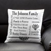 Personalized Keepsake Pillow - Family Memories