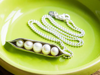 The Vintage Pearl: Sweet Peas In The Pod Necklace