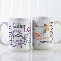 Personalized Large Coffee Mugs - My Name
