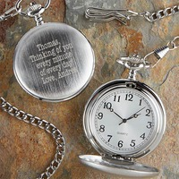 personalized pocket watch stocking stuffer idea