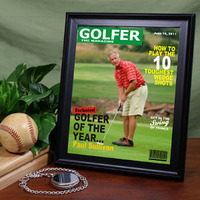 custom golf magazine cover
