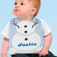 personalized snowman bib gift for new mom