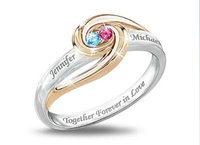 Together Forever In Love Personalized Birthstone R
