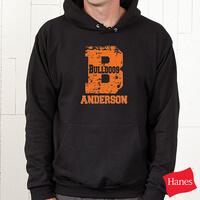 Black Personalized Athletic Sweatshirts - Go Team