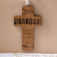 custom carved cross gift for new mom
