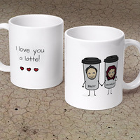 I Love You A Latte! - Personalized 11 Oz...