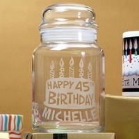 Personalized Birthday Treat Jar - Birthday Gifts