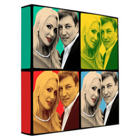 Personalized Anniversary Pop Art Canvas Print..
