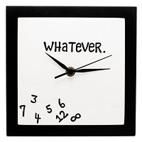 whatever clock funny gift for thirteen year old girls room