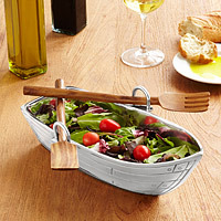 row boat salad server practical gift