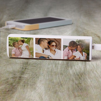 3 Photo Collage - Personalized 2600 MAh Portable..