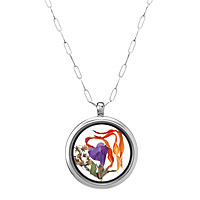 glass keepsake locket