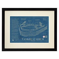 ball park blueprints gift for baseball fans