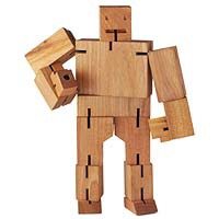 cubebot wooden robot gift for creative tween
